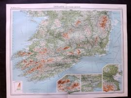Bartholomew 1922 Large Map. Ireland - Southern Section